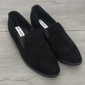 New Steve Madden faux black suede flats size 39